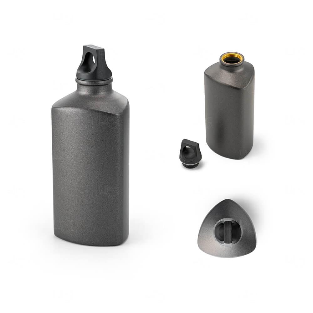 Squeeze Alumínio Personalizado - 600ml Chumbo