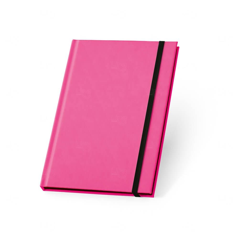 Caderno Capa Dura Personalizado Rosa