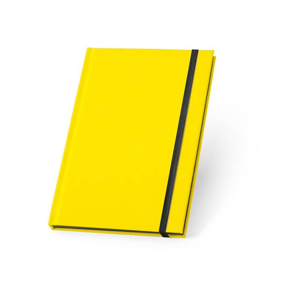 Caderno Capa Dura Personalizado Amarelo
