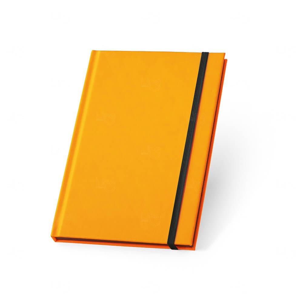 Caderno Capa Dura Personalizado Laranja