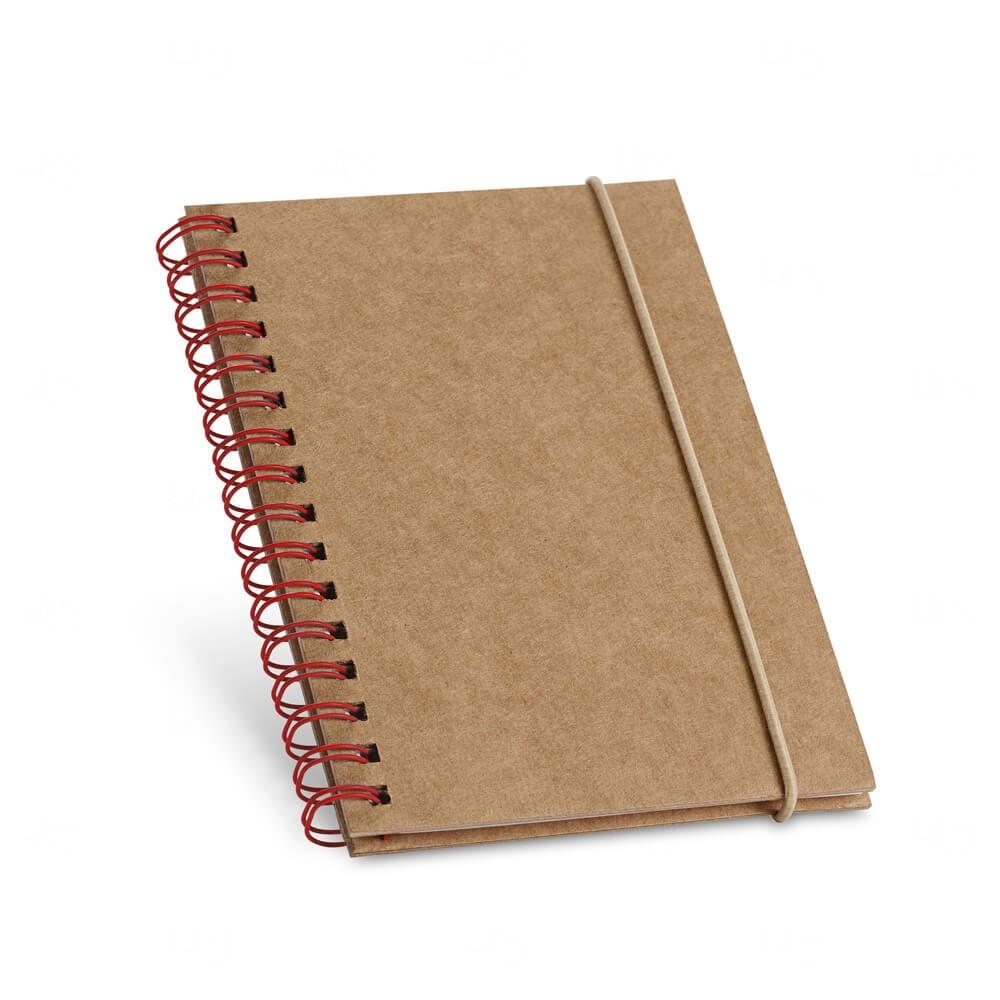 Caderno Capa Dura Personalizado Vermelho