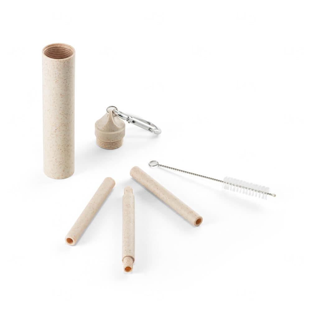 Canudo Fibra de  Bambu Personalizado