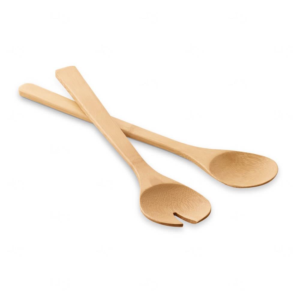 Conjunto de Talheres Bambu Personalizado