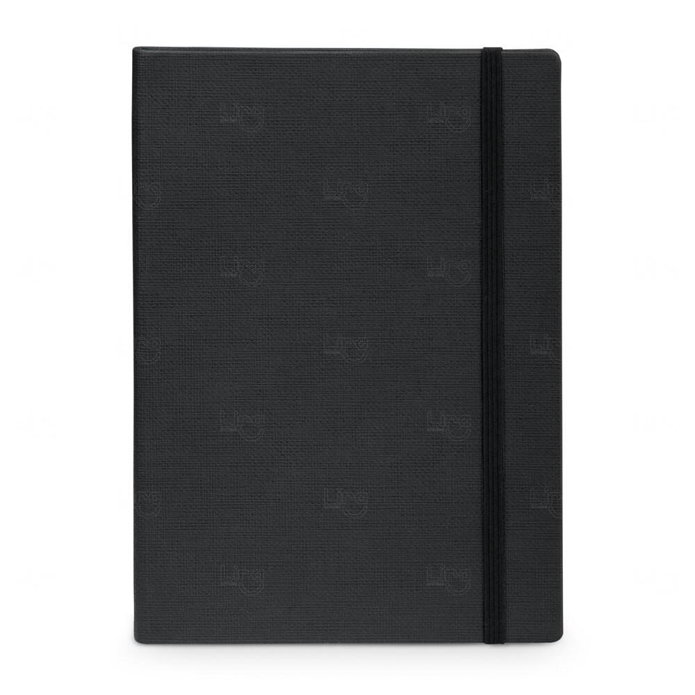 Caderno Capa Dura Personalizado - 14 x 9 cm Preto
