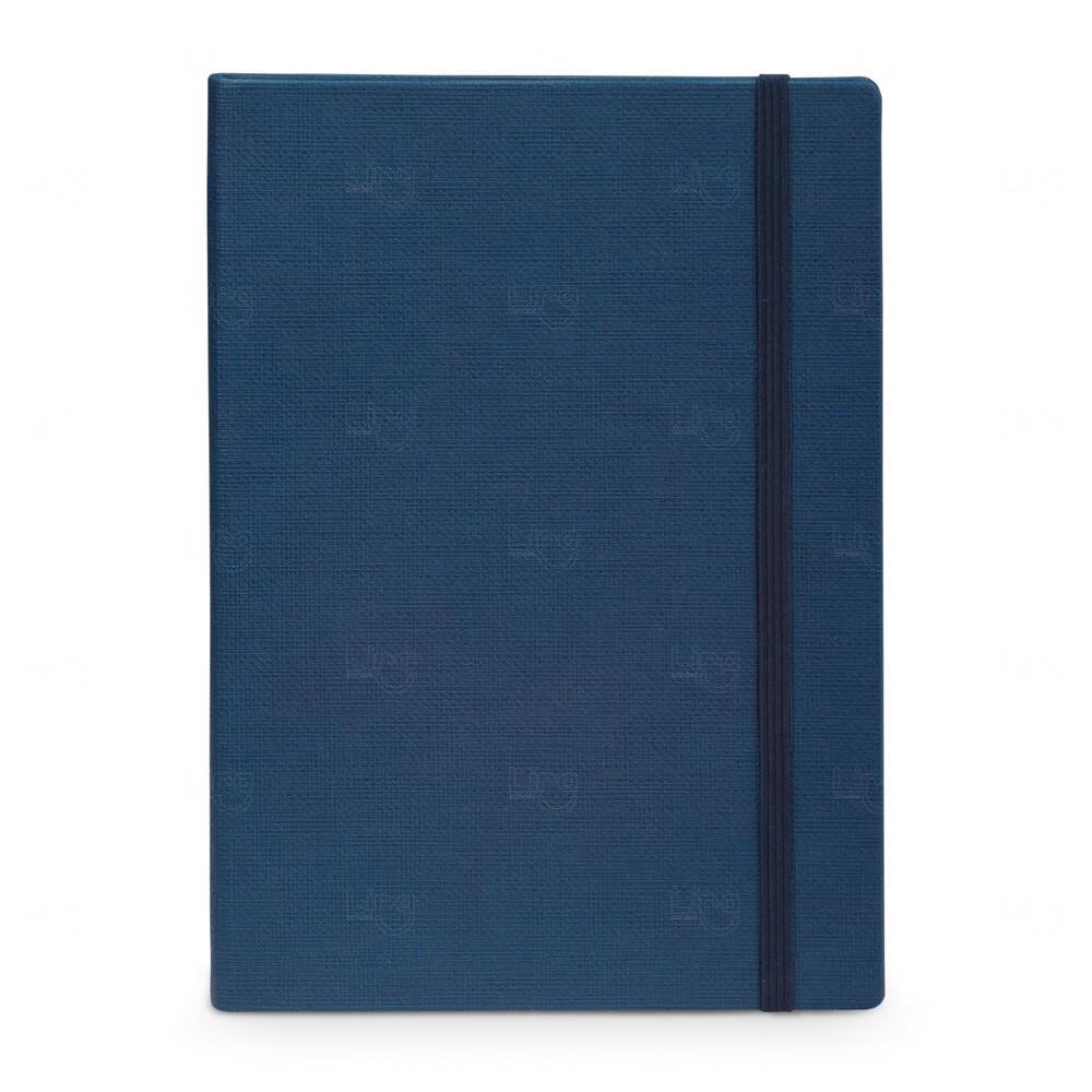 Caderno Capa Dura Personalizado - 14 x 9 cm Azul