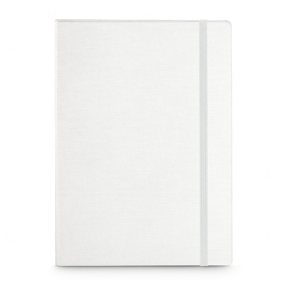 Caderno Capa Dura Personalizado - 14 x 9 cm Branco