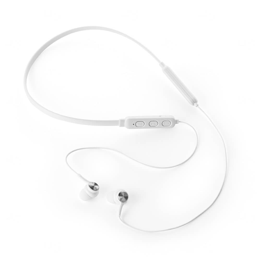 Fone de Ouvido Bluetooth Personalizado Branco