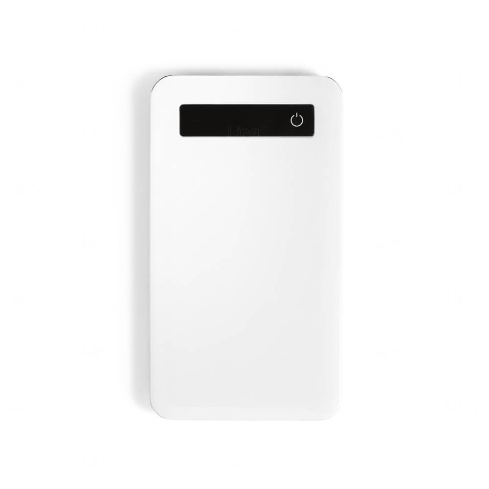 Bateria Portátil Com Ecrã Touch Personalizado - 4.000 mAh Branco
