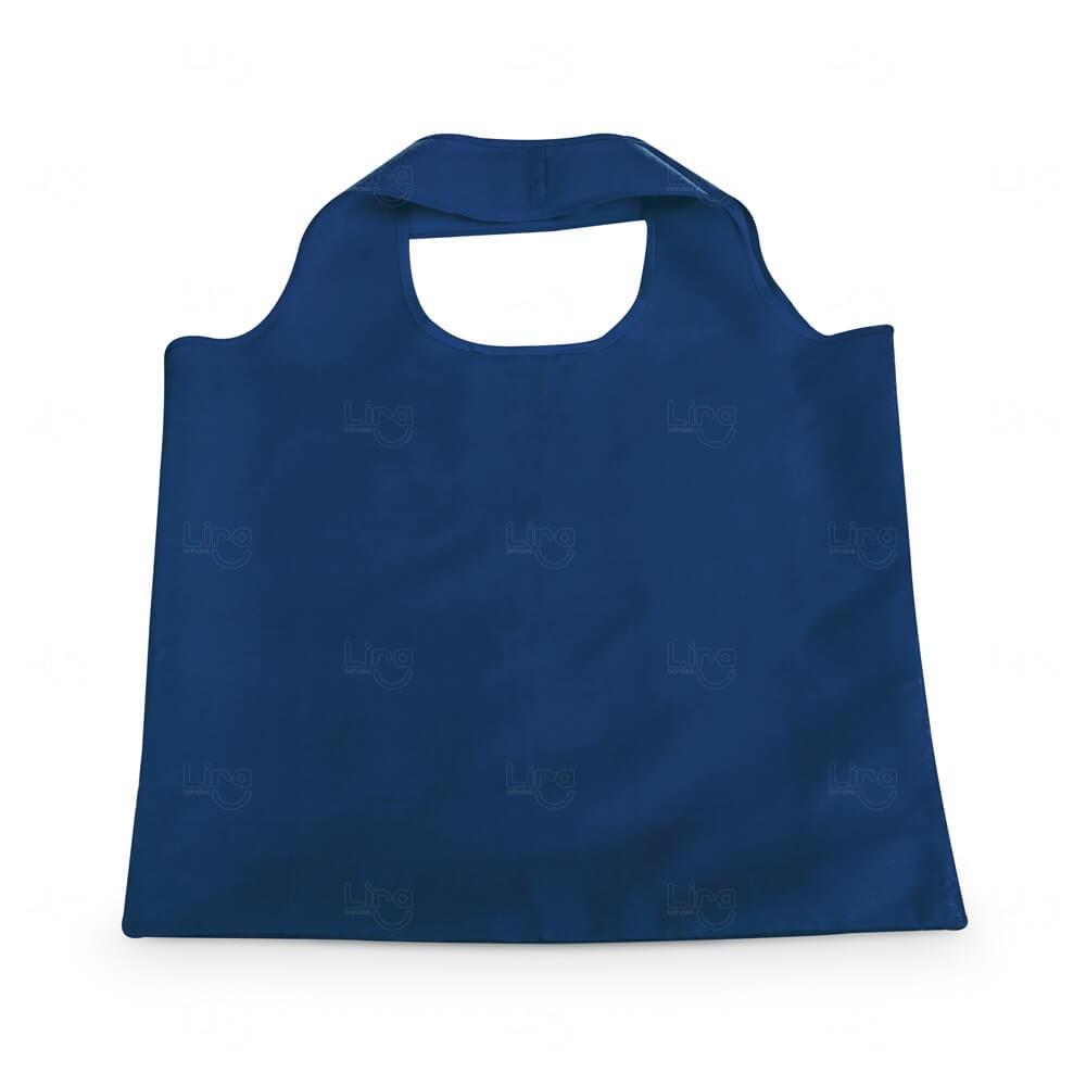 Sacola Dobrável Poliéster Personalizada Azul