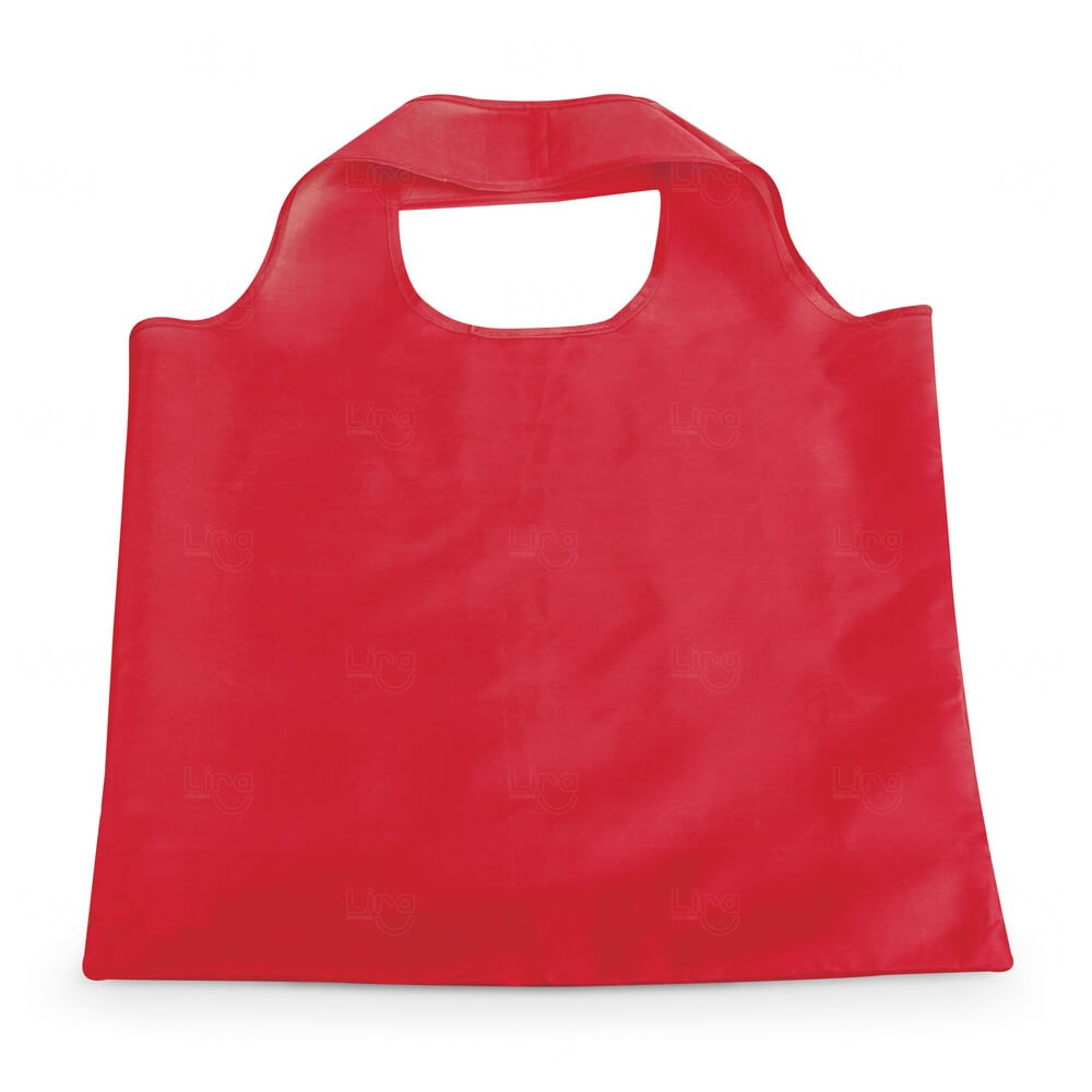 Sacola Dobrável Poliéster Personalizada Vermelho