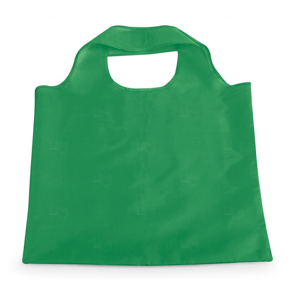 Sacola Dobrável Poliéster Personalizada Verde