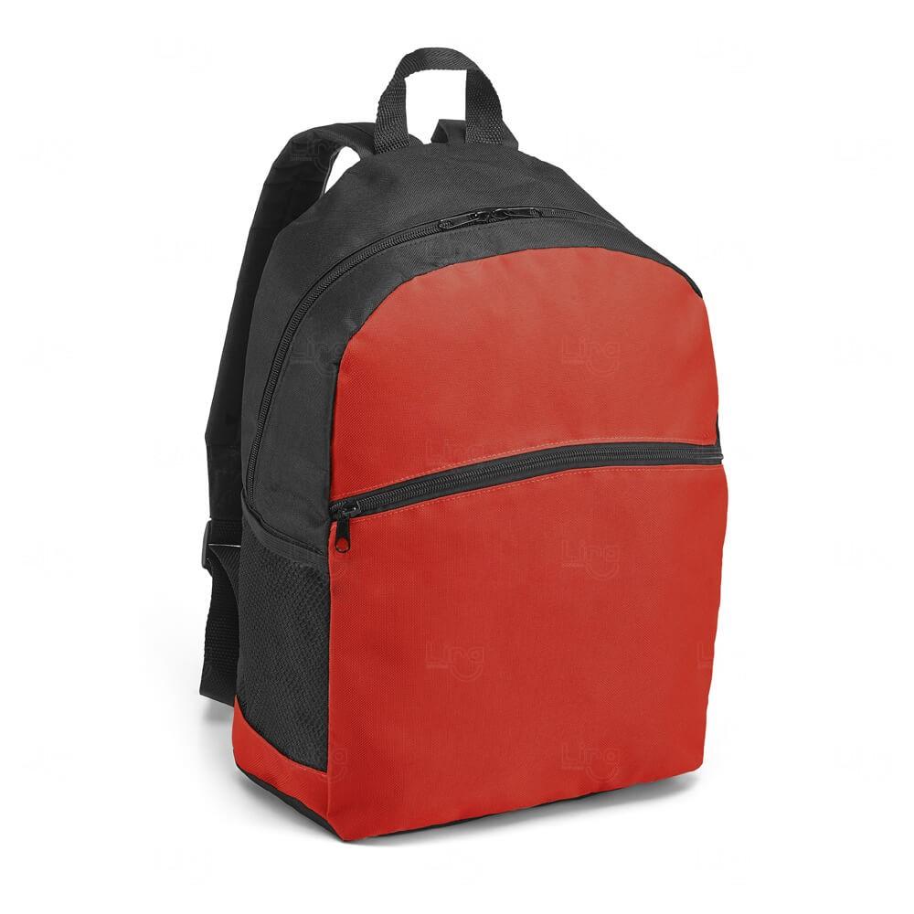 Mochila Bolso Frontal Personalizada Vermelho