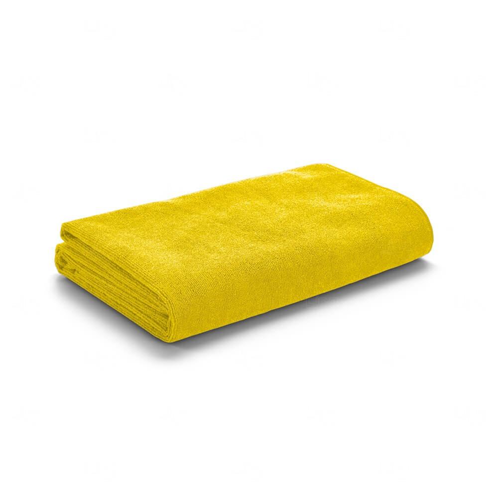 Toalha De Praia Com Sacola Personalizada Amarelo