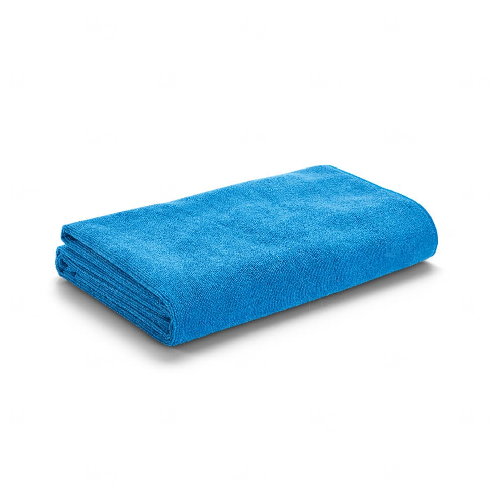 Toalha De Praia Com Sacola Personalizada Azul Claro