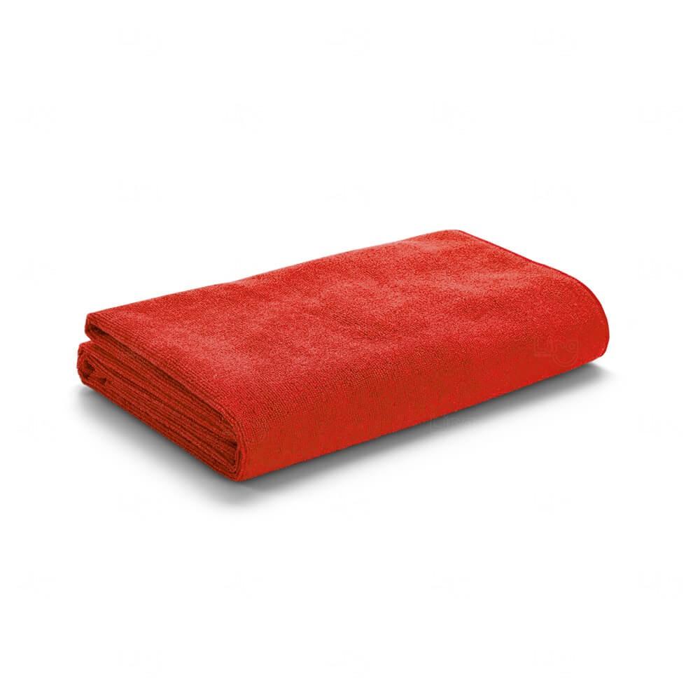 Toalha De Praia Com Sacola Personalizada Vermelho