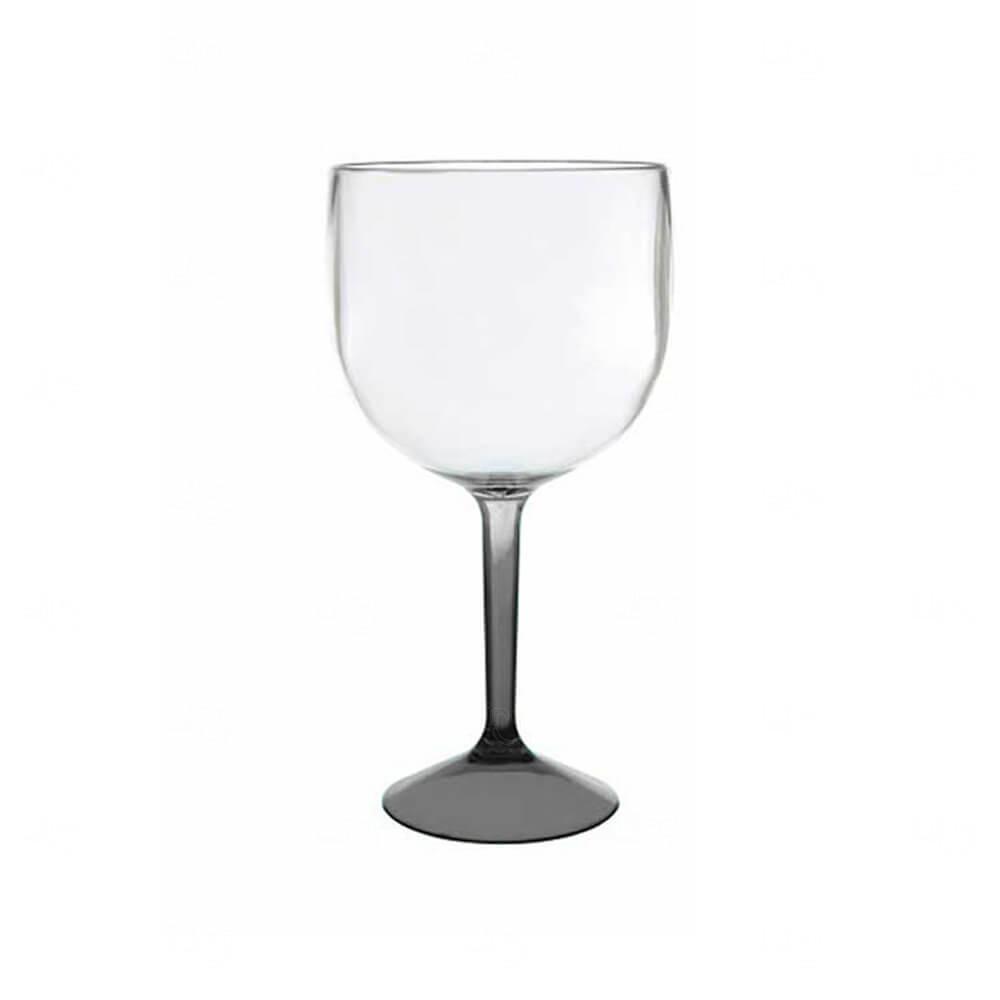 Taça de Gin  Acrilica Bicolor Personalizado - 570ml Preto