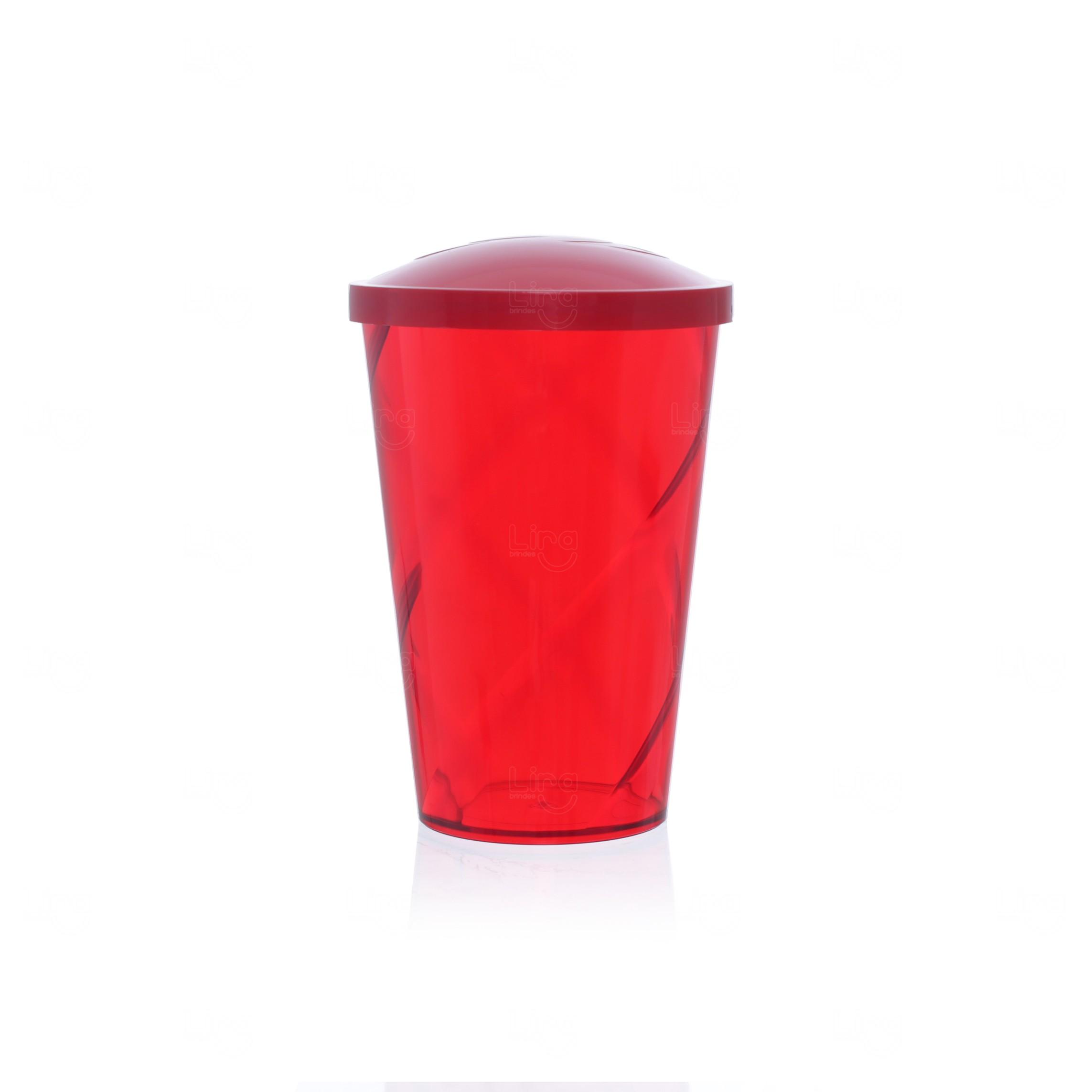 Coqueteleira Personalizada - 700ml Vermelho