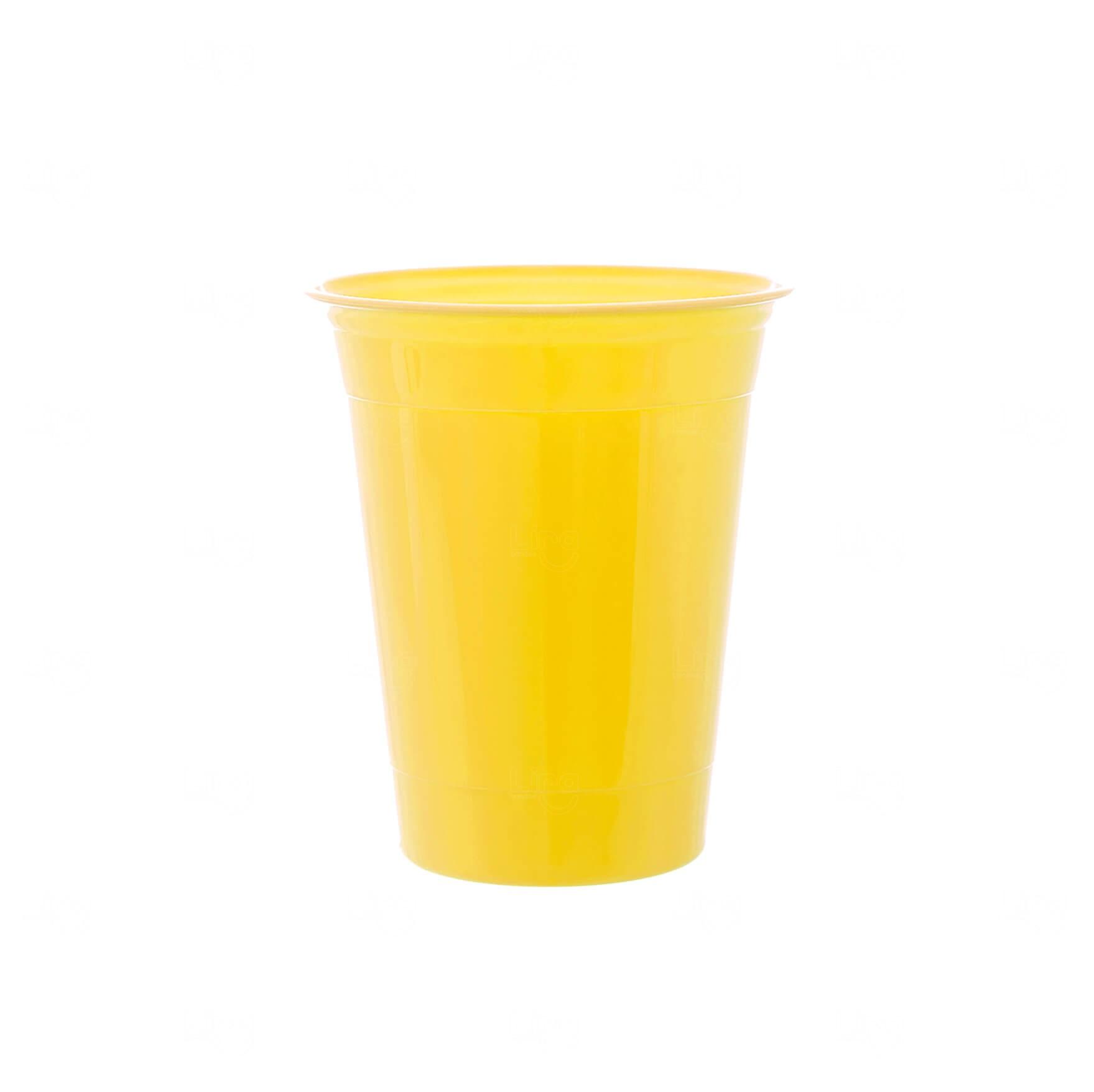 Copo P/ Festa Personalizado - 400ml Amarelo