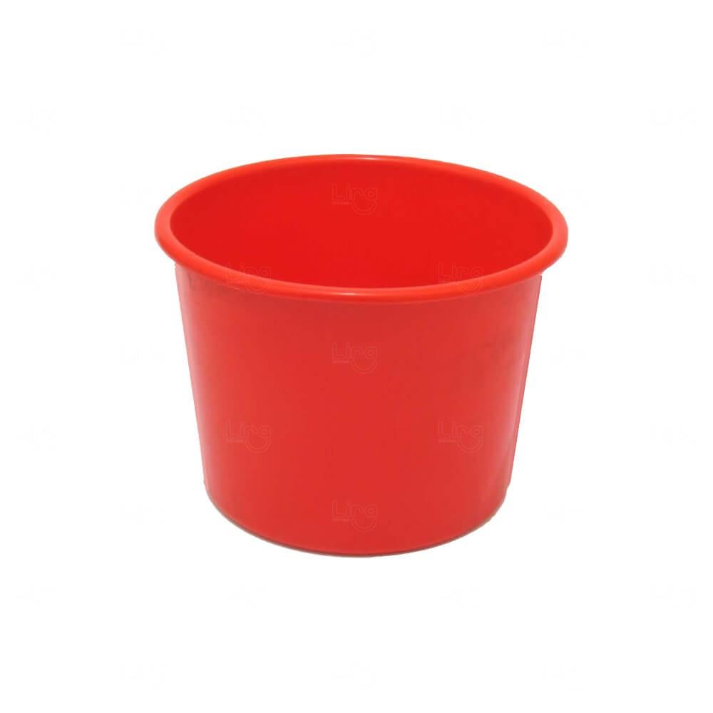 Balde De Pipoca Personalizado - 1,5 L Vermelho