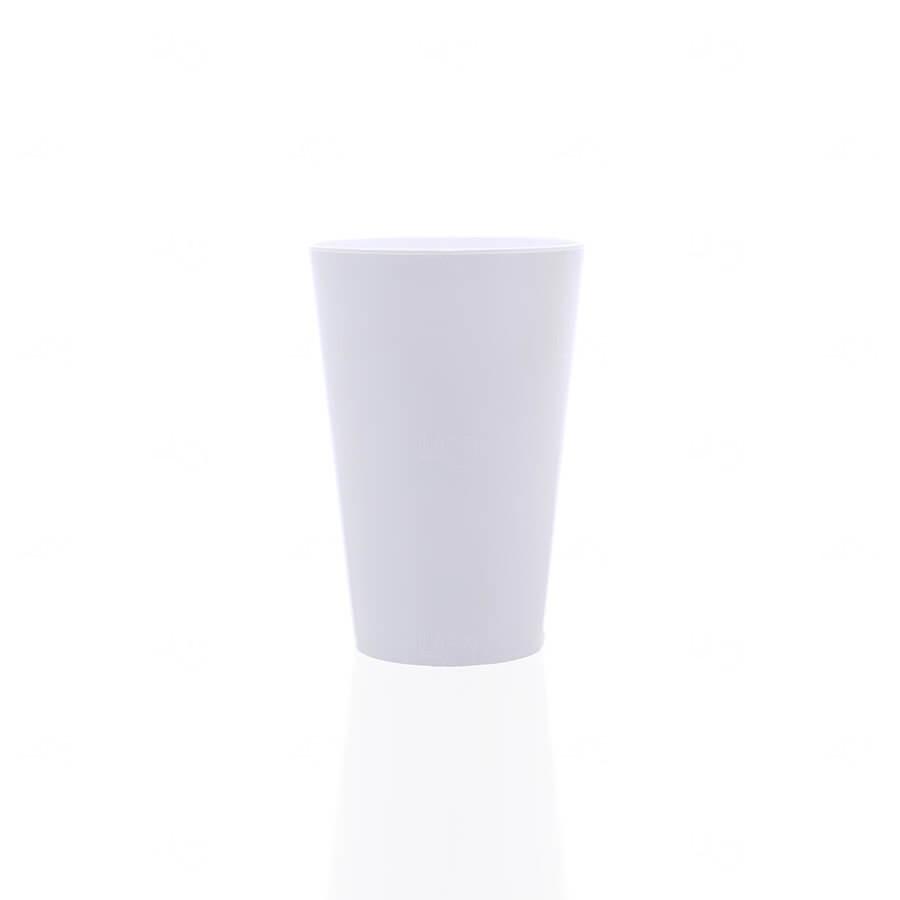 Copo Personalizado - 350ml (Leitoso ou Cristal) Branco