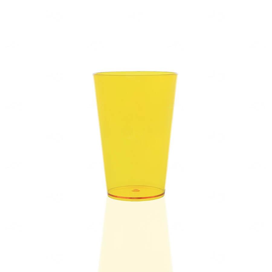 Copo Personalizado - 350ml (Leitoso ou Cristal) Amarelo