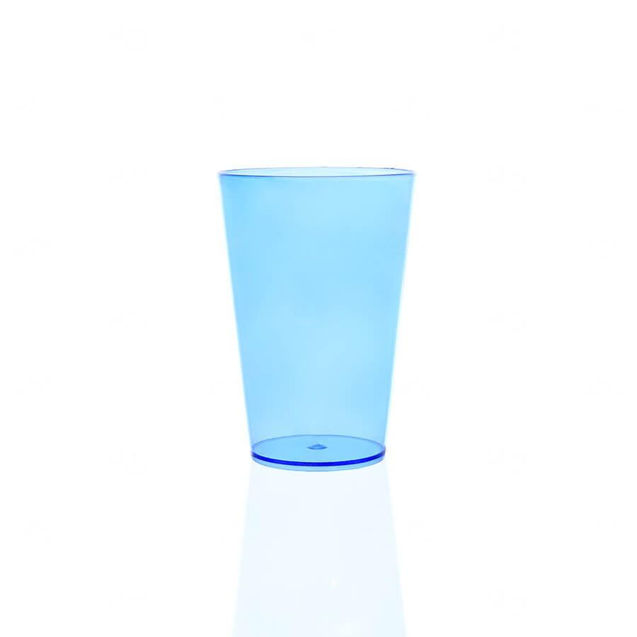Copo Personalizado - 350ml (Leitoso ou Cristal) Azul Claro