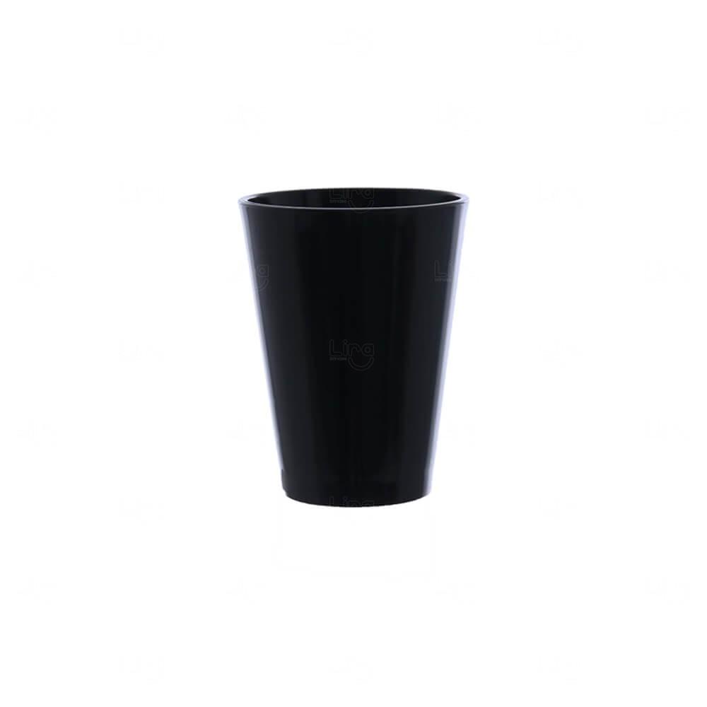 Copo Shot Personalizado - 60ml (Leitoso ou Cristal) Preto
