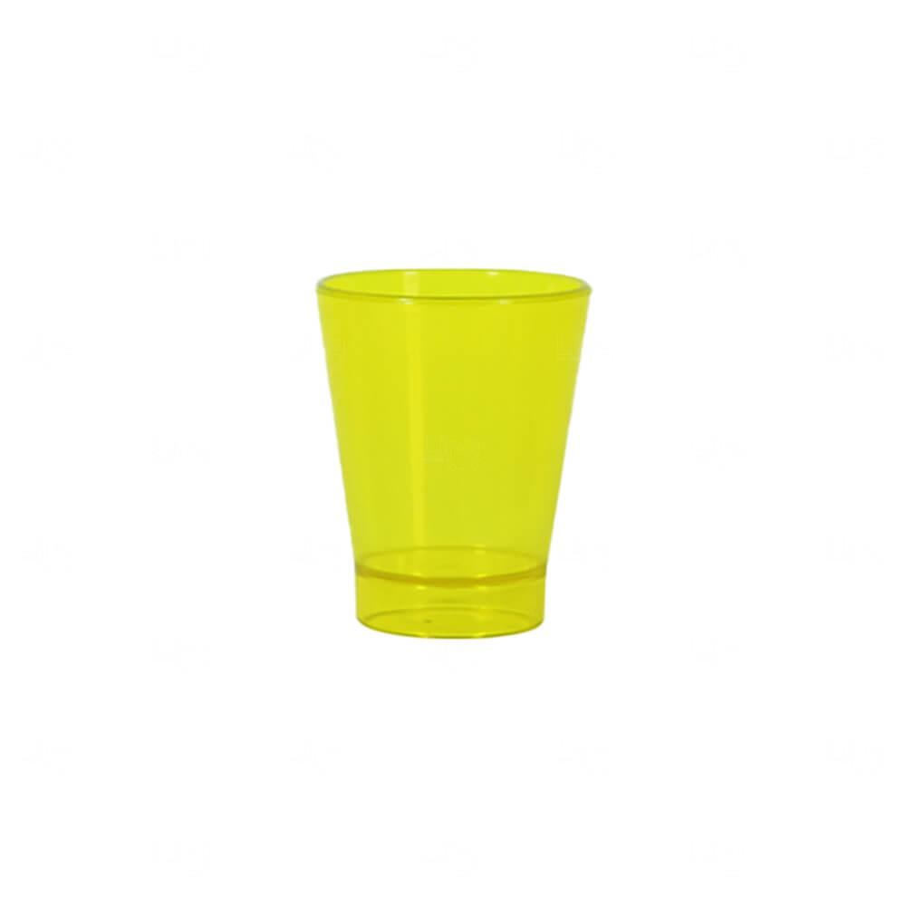 Copo Shot Personalizado - 60ml (Leitoso ou Cristal) Amarelo