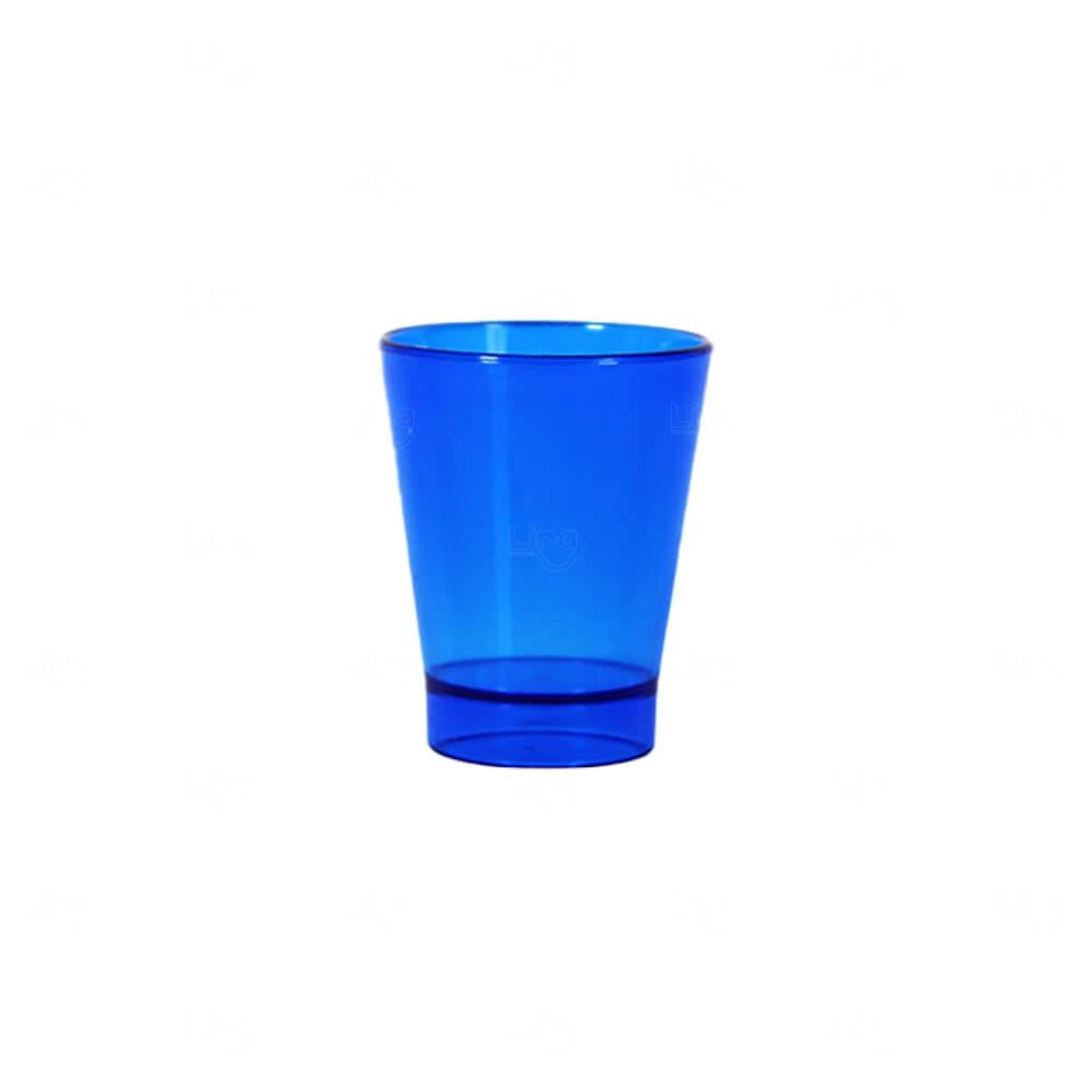 Copo Shot Personalizado - 60ml (Leitoso ou Cristal) Azul