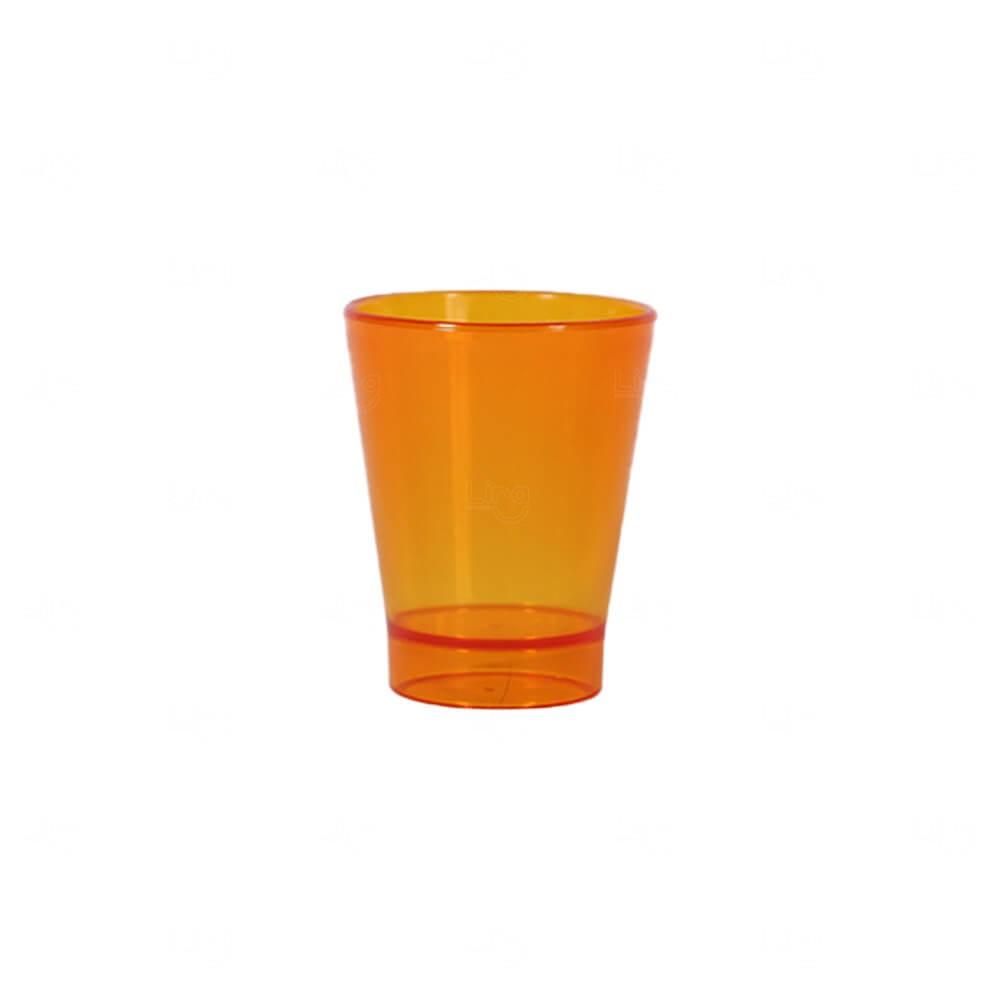 Copo Shot Personalizado - 60ml (Leitoso ou Cristal) Laranja