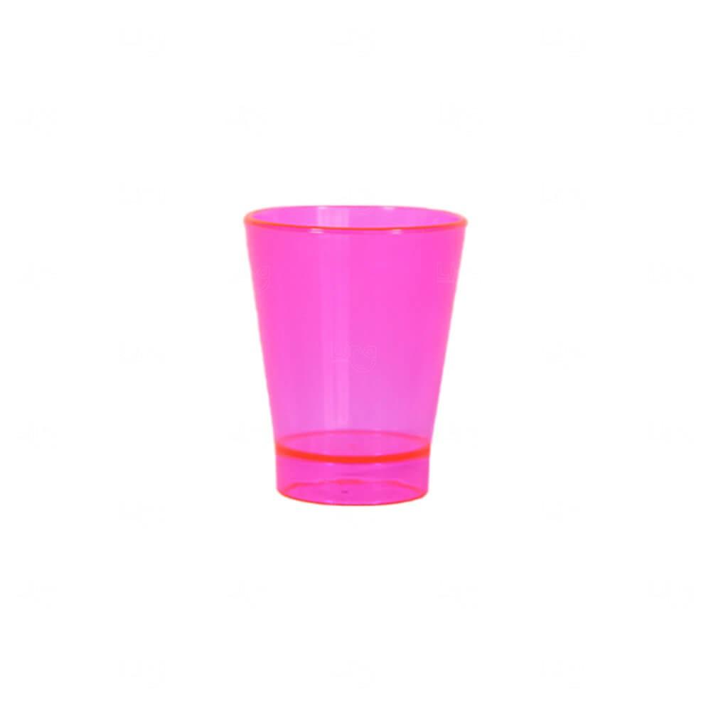Copo Shot Personalizado - 60ml (Leitoso ou Cristal) Rosa