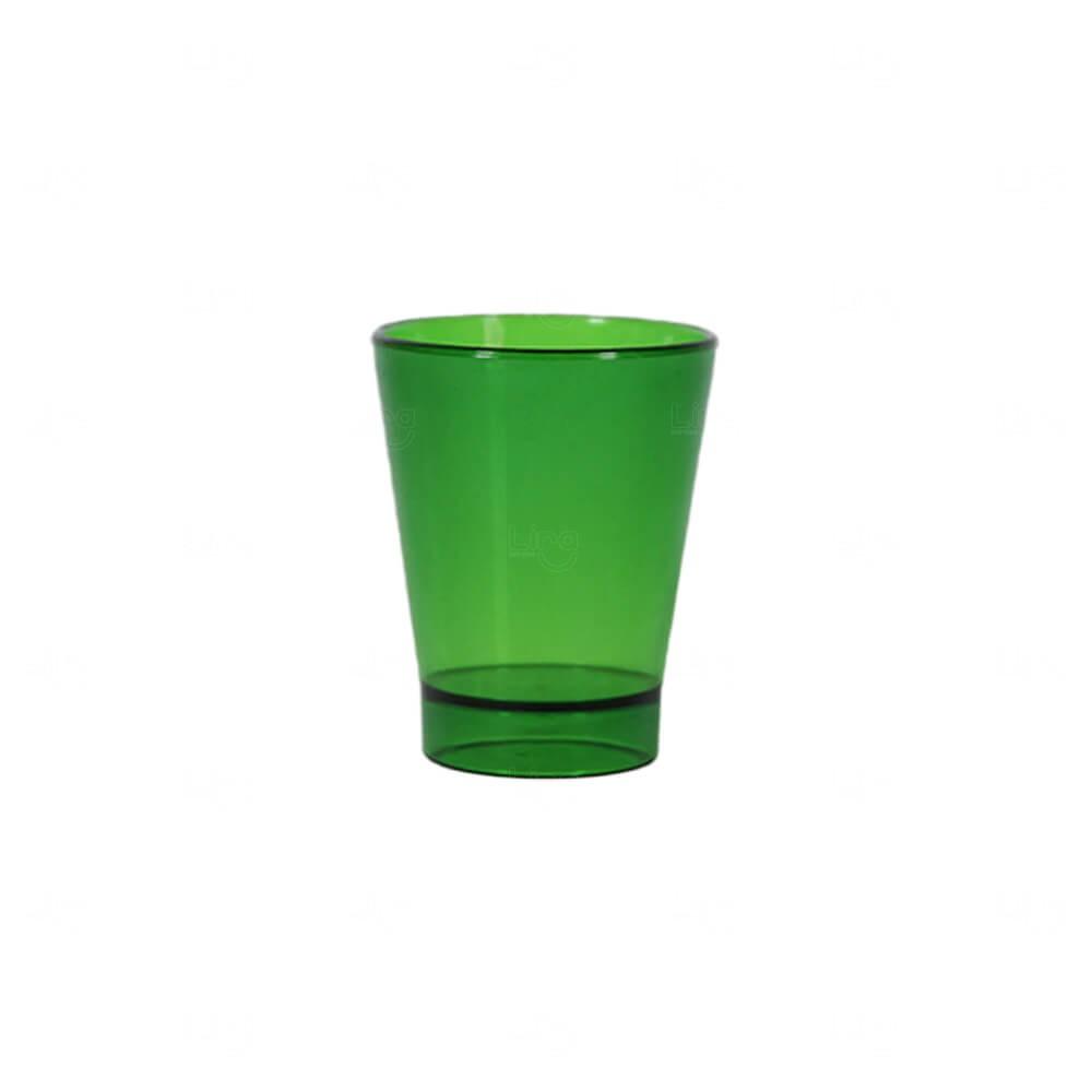 Copo Shot Personalizado - 60ml (Leitoso ou Cristal) Verde