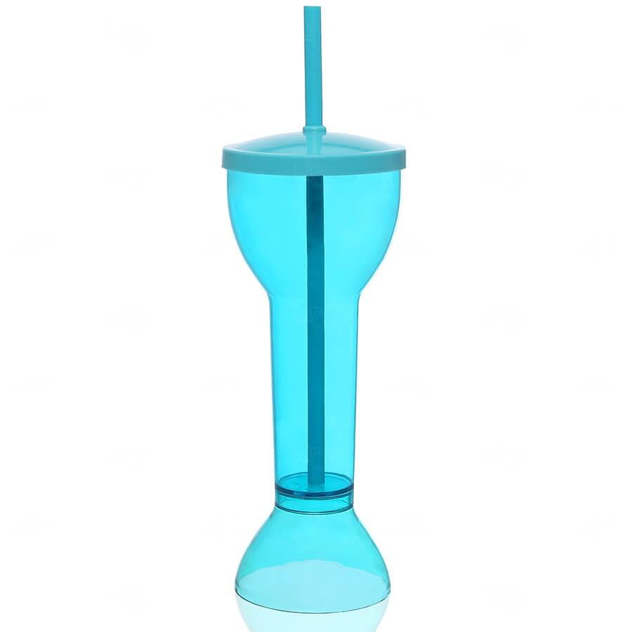 Copo Yard Prime Personalizado - 550ml (Leitoso ou Cristal) Azul Claro