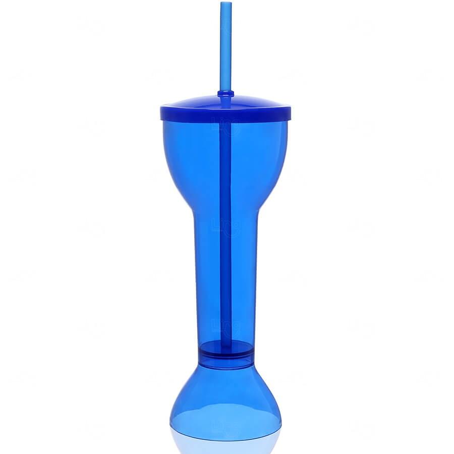 Copo Yard Prime Personalizado - 550ml (Leitoso ou Cristal) Azul