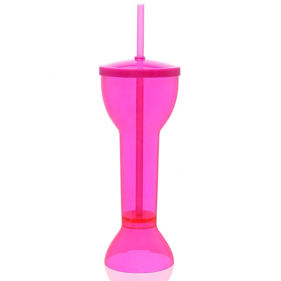 Copo Yard Prime Personalizado - 550ml (Leitoso ou Cristal) Rosa
