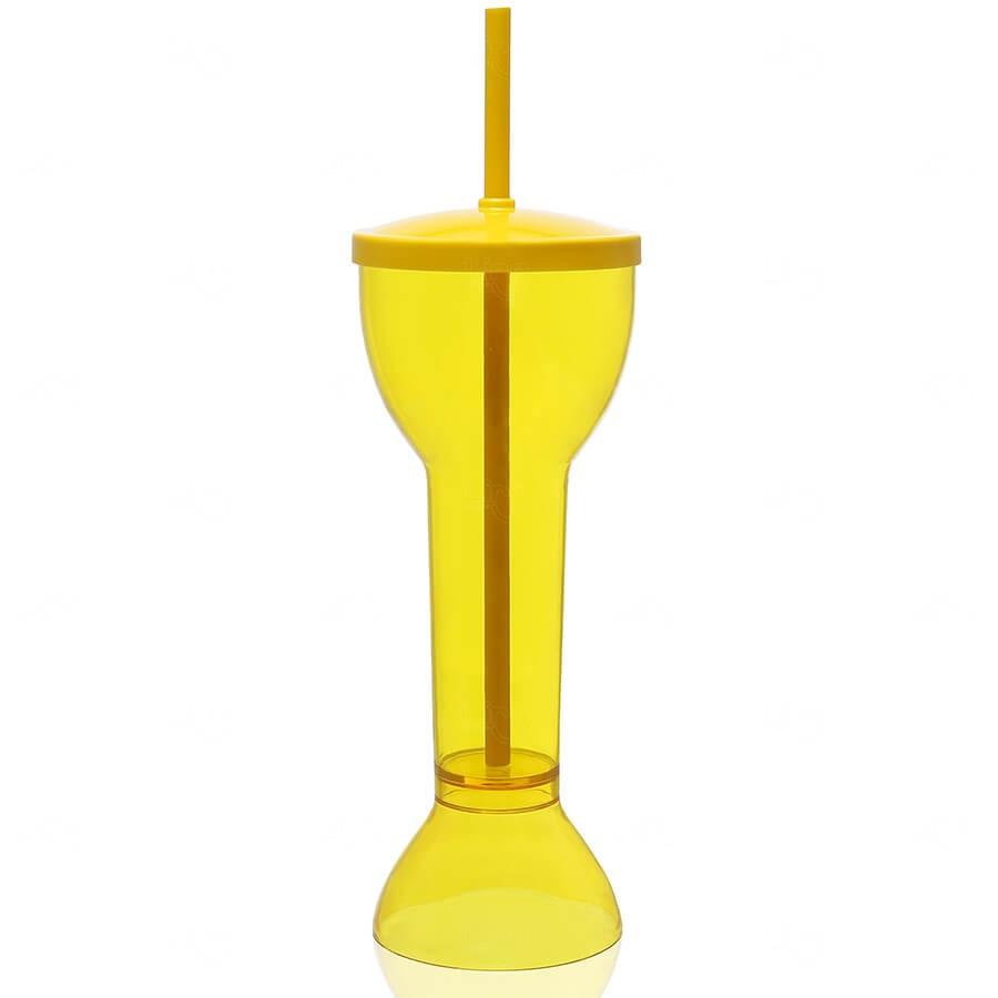 Copo Yard Prime Personalizado - 550ml (Leitoso ou Cristal) Amarelo