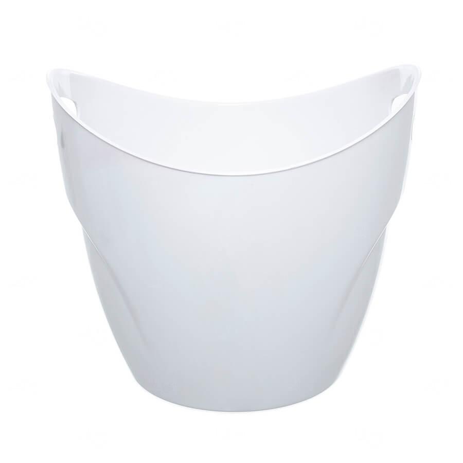 Balde De Gelo Personalizado - 7,5 L (Leitoso ou Cristal) Branco