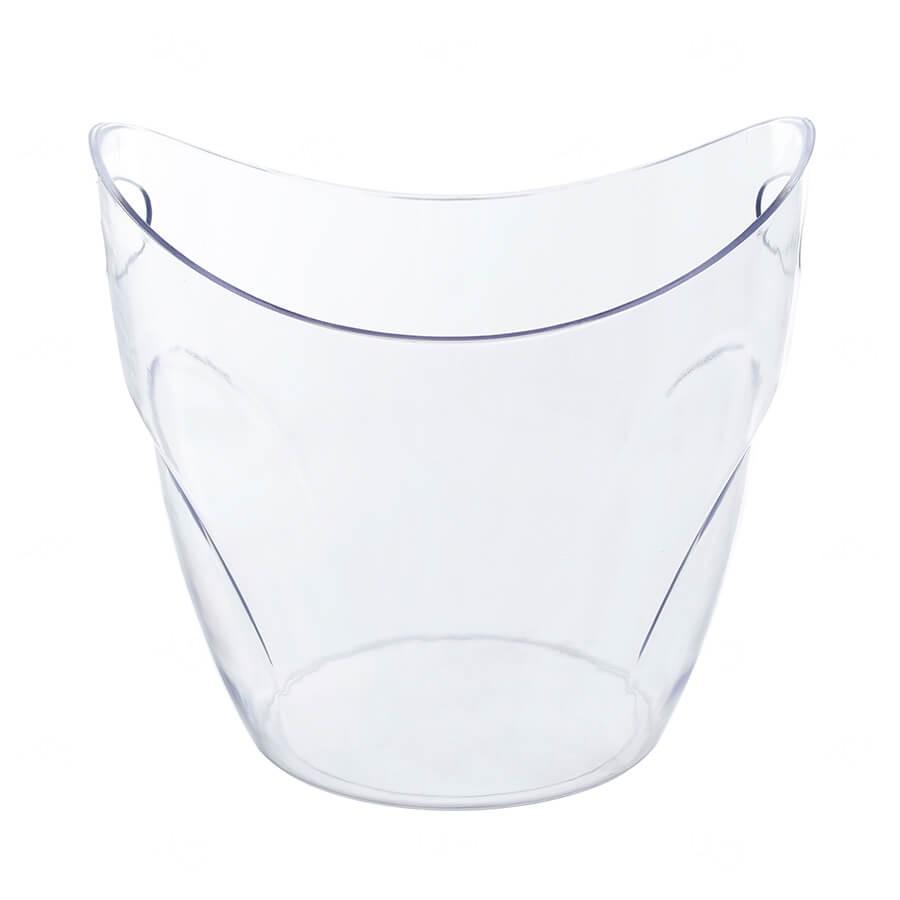 Balde De Gelo Personalizado - 7,5 L (Leitoso ou Cristal) Transparente
