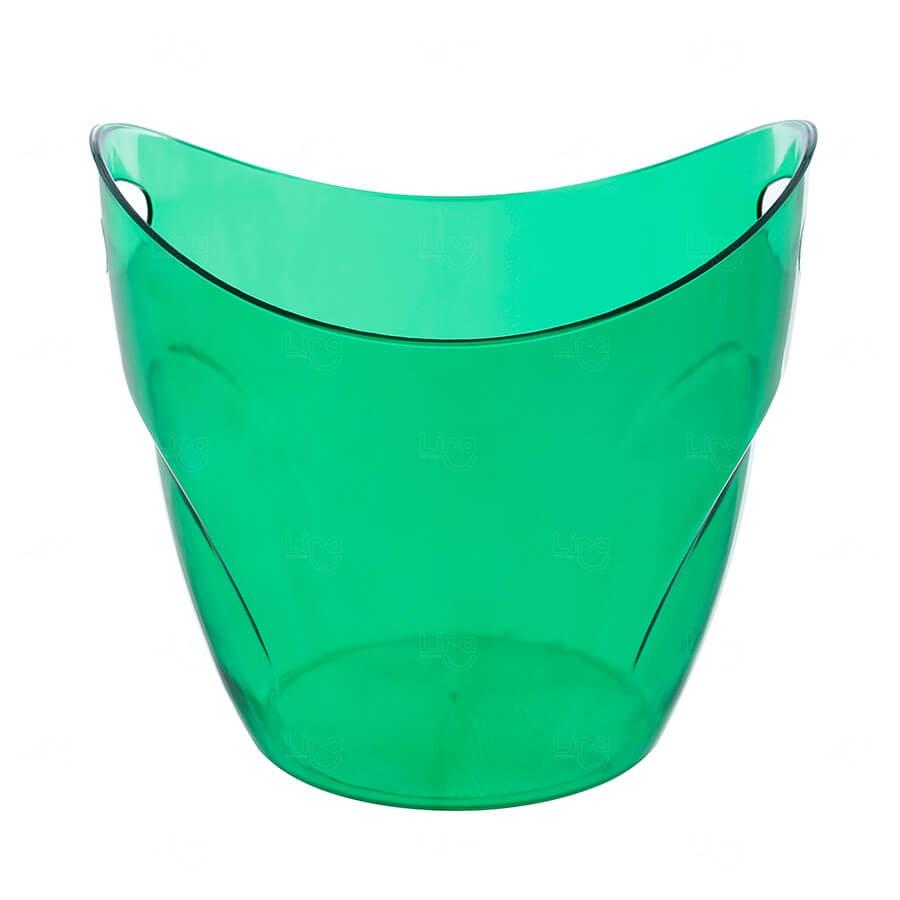 Balde De Gelo Personalizado - 7,5 L (Leitoso ou Cristal) Verde