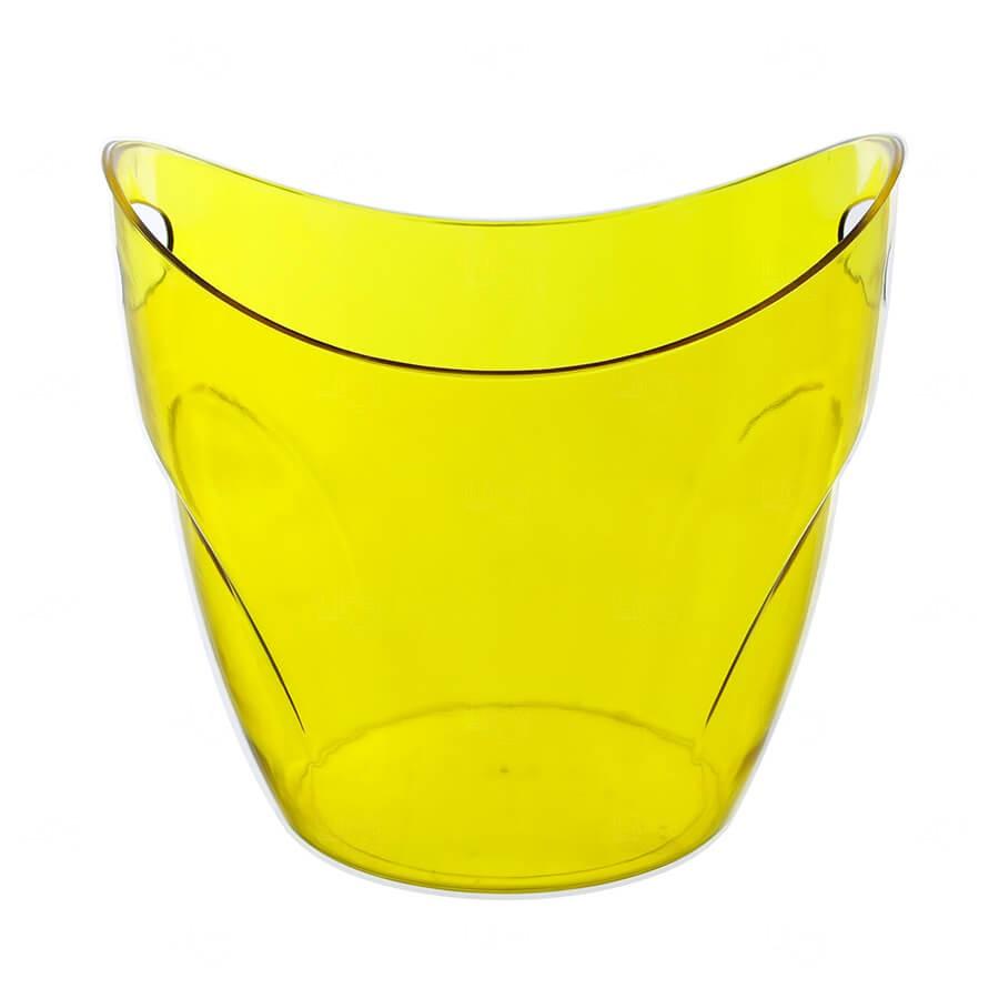 Balde De Gelo Personalizado - 7,5 L (Leitoso ou Cristal) Amarelo