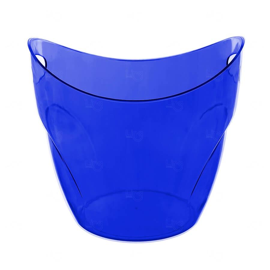 Balde De Gelo Personalizado - 7,5 L (Leitoso ou Cristal) Azul