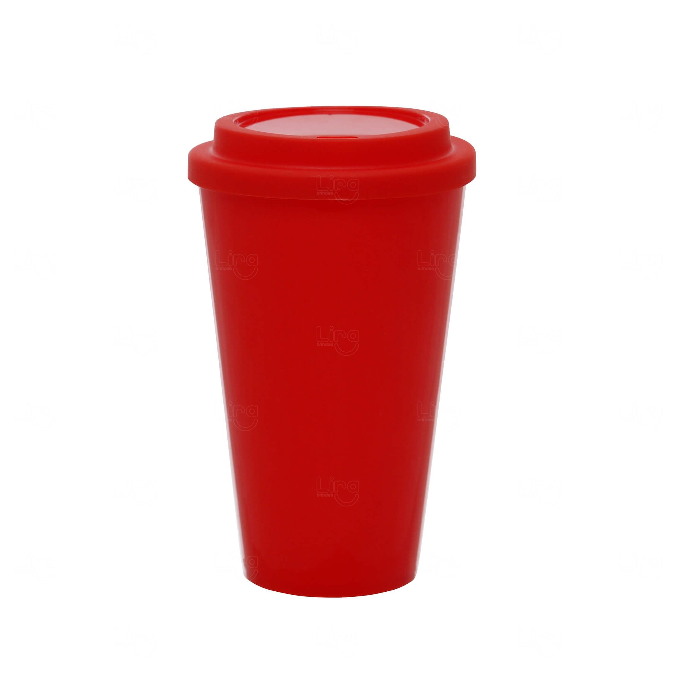 Copo Café Personalizado - 550ml Vermelho