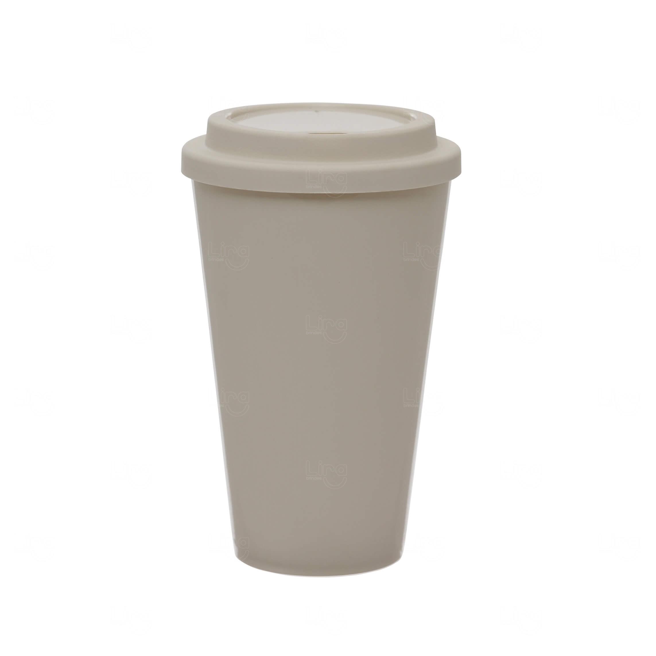 Copo Café Personalizado - 550ml Bege