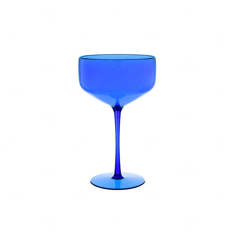 Taça Coupe Personalizado - 390ml Azul