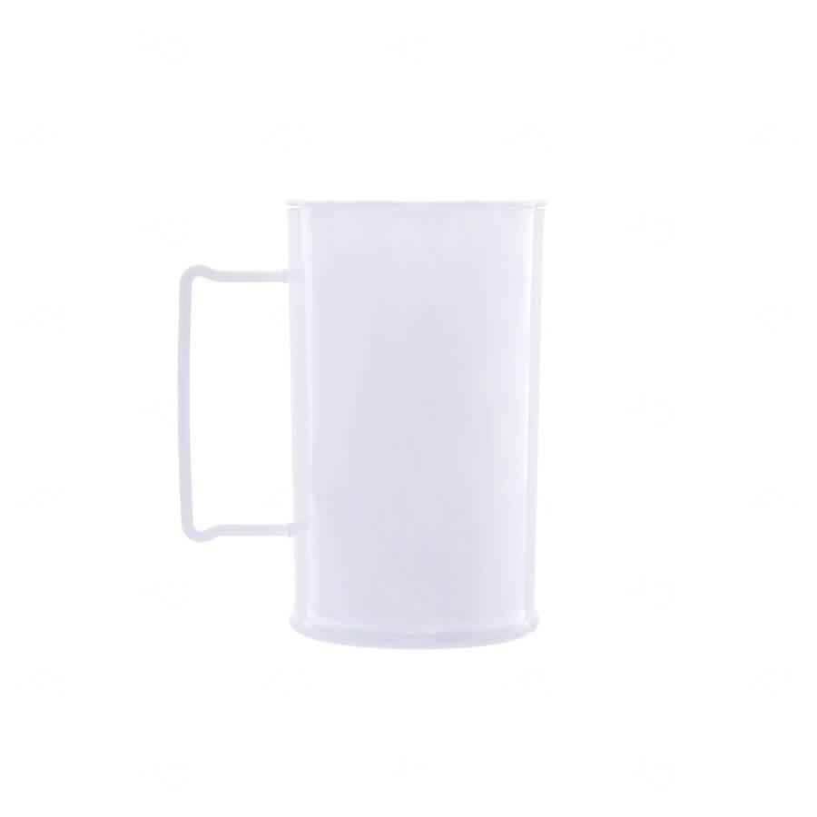 Caneca De Chopp Personalizada - 500ml (Leitosa ou Cristal) Branco