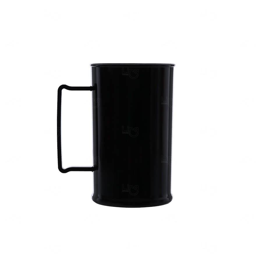 Caneca De Chopp Personalizada - 500ml (Leitosa ou Cristal) Preto
