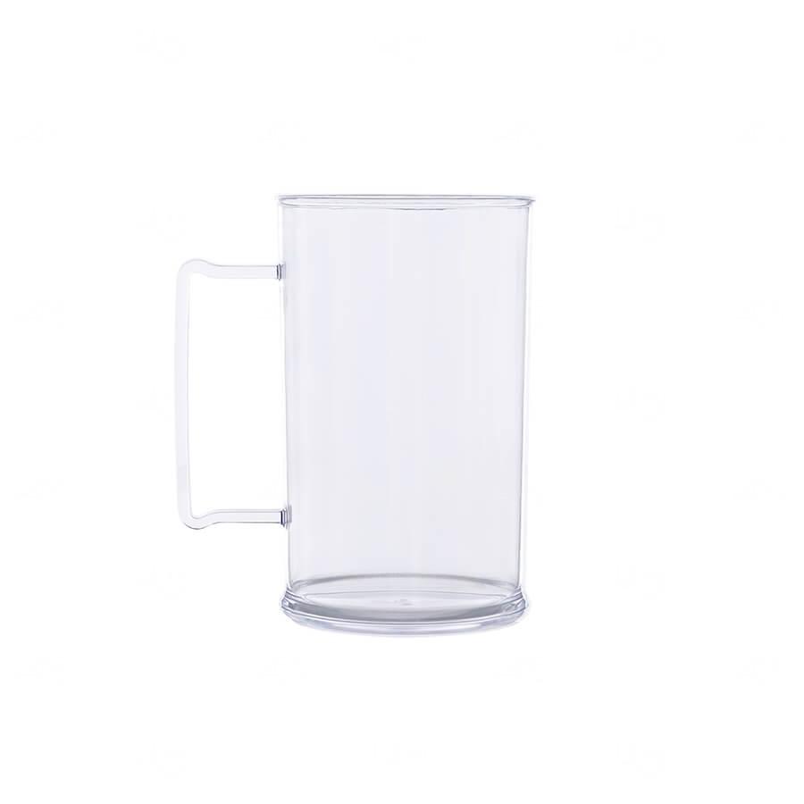 Caneca De Chopp Personalizada - 500ml (Leitosa ou Cristal) Transparente