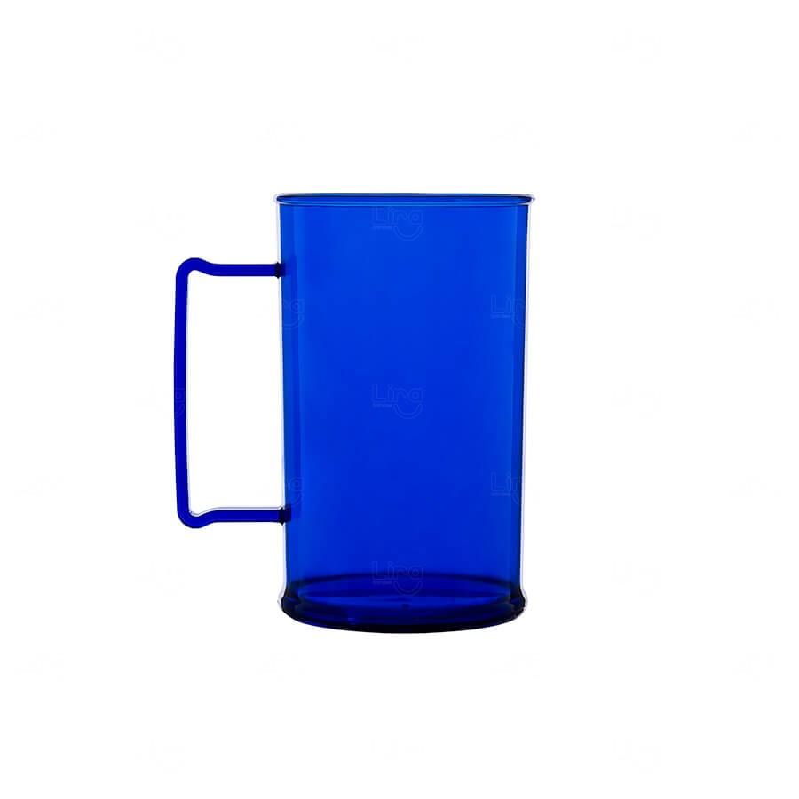 Caneca De Chopp Personalizada - 500ml (Leitosa ou Cristal) Azul Marinho