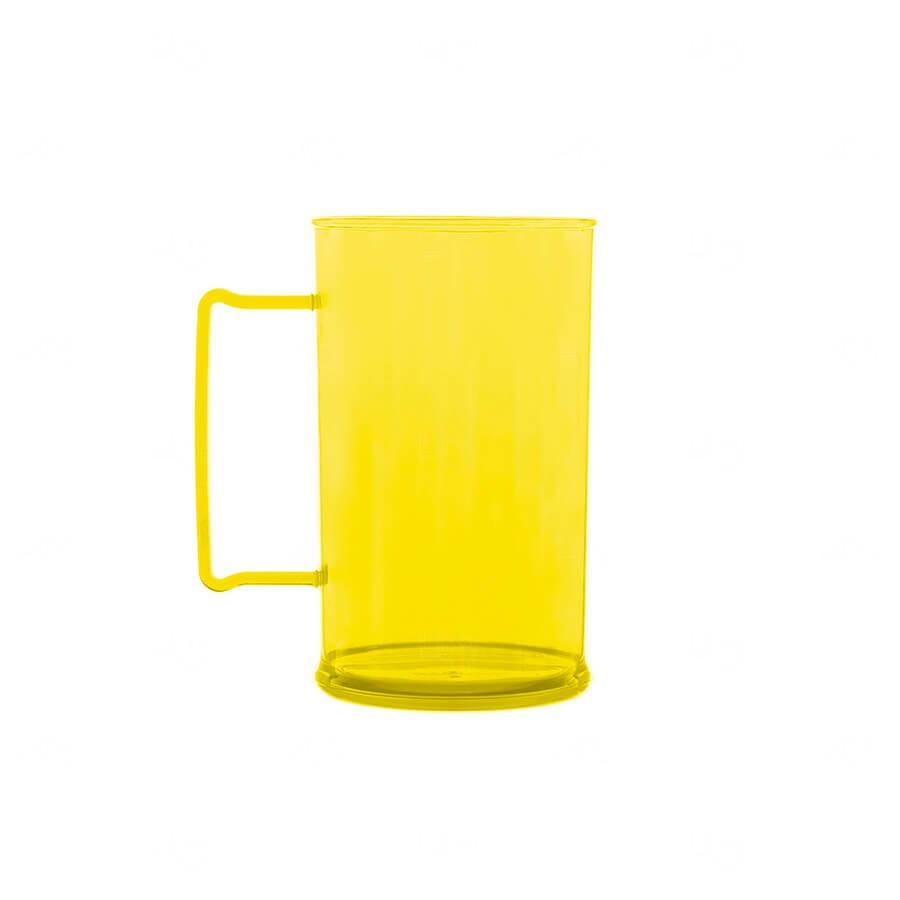 Caneca De Chopp Personalizada - 500ml (Leitosa ou Cristal) Amarelo