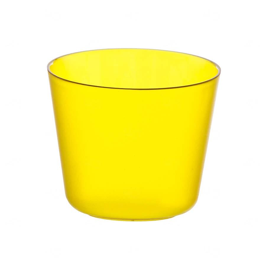 Mini Balde De Gelo Personalizado - 2 L (Leitoso ou Cristal) Amarelo